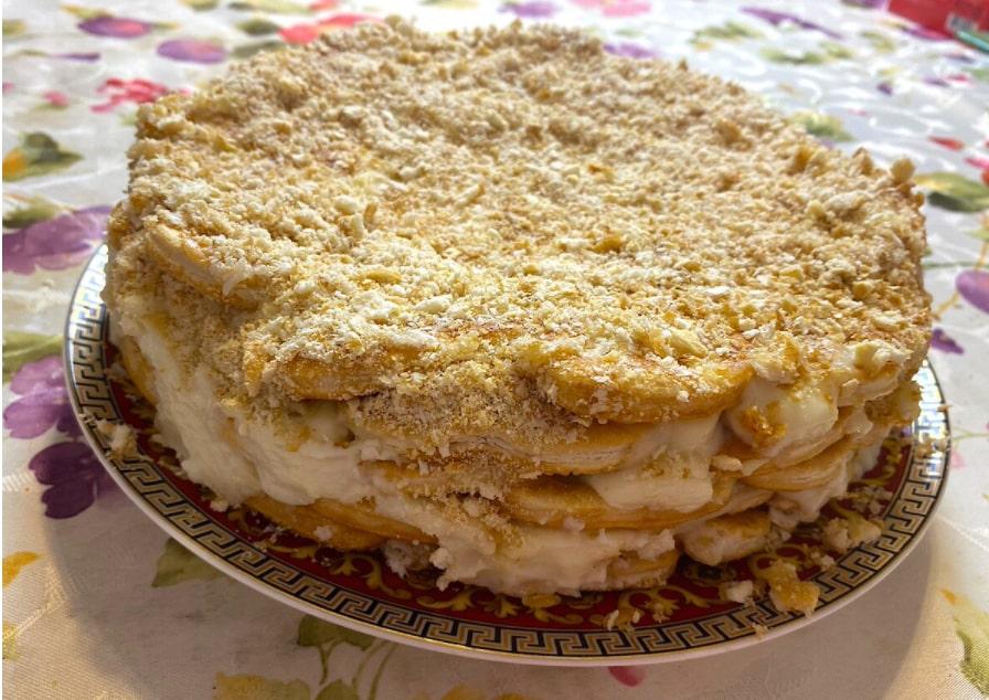 Ленивый Торт Наполеон. Самый простой рецепт торта к столу.