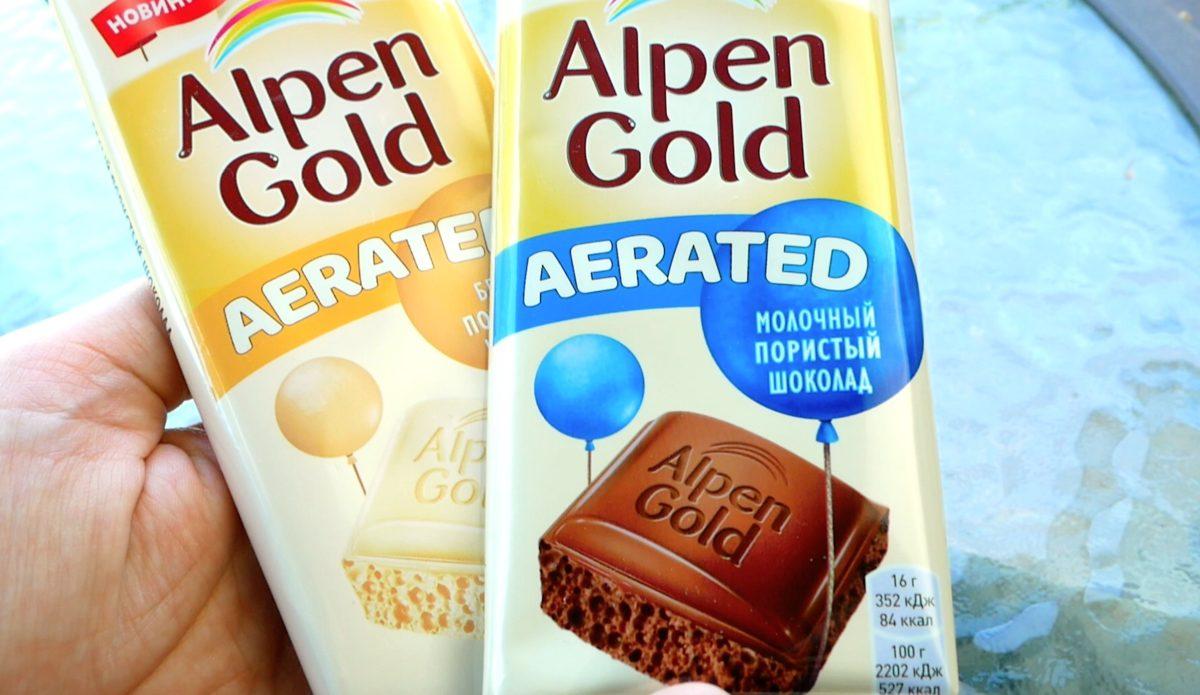 Новинка Alpen Gold Aerated. Теперь у Альпен Гольд есть пористый шоколад